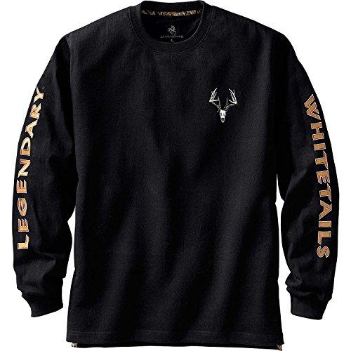 Legendary Whitetails Men's Non-Typical Series Long Sleeve T-Shirt Black XX-Large