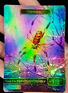 GnD Cards 1x Spider #4 FOIL Laminated Custom Altered Tokens MTG (for Ishkanah, Grafwidow) Eldritch Moon