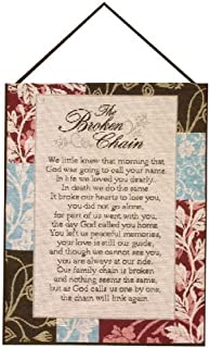 Manual Inspirational Collection Wall Hanging with Frame, The Broken Chain, 13 X 18-Inch