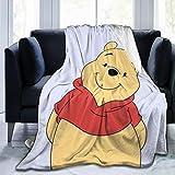 Criss Winnie The Pooh Throw Blanket Ultra Soft Thick Microplush Bed Blanket-All Season Premium Fluffy Microfiber Fleece Throw for Sofa Couch Throw50 x40