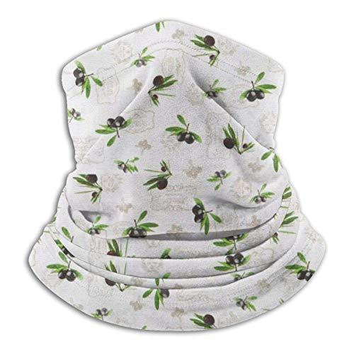 ShiHaiYunBai Tour de Cou Cagoule Microfibre Chapeaux Tube Masque Visage, Summer Palm Fleece Neck Warmer - Reversible Neck Gaiter Tube, Versatility Ear Warmer Headband & For Men And Women