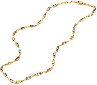 multicolor crystal necklace