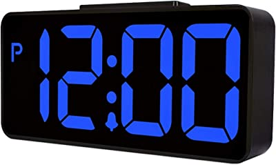 Reloj Despertador para los durmientes Pesados Dormitorio Relojes USB de Escritorio Inicio LED Hora