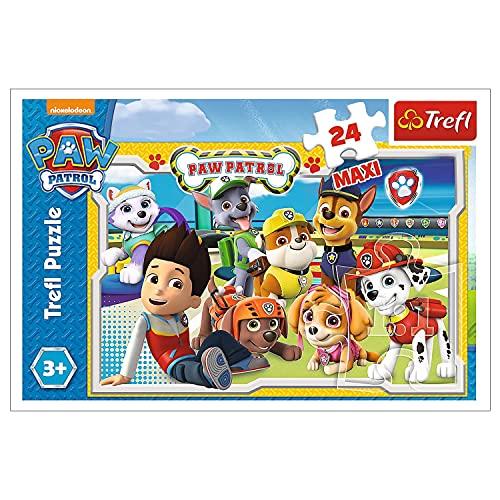 Trefl, Puzzle, Fröhliches Team, 24 Maxiteile, PAW Patrol, für Kinder ab 3 Jahren