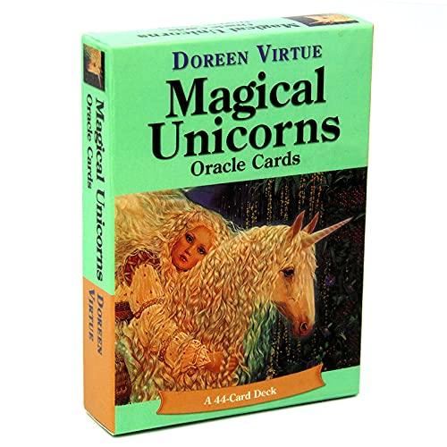 魔法のユニコーンのオラクルカードユニコーン、44タロットカード、屋内テーブルゲームに使用され、パーティーや休日のテーブルカードに適しています。