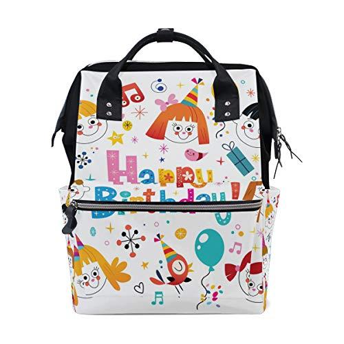 Jeansame Mummy Rugzak School Tas Laptop Reizen Tassen Casual Tas Dagtas voor Kids Jongens Meisjes Vrouwen Mannen Gelukkige Verjaardag Ballonnen