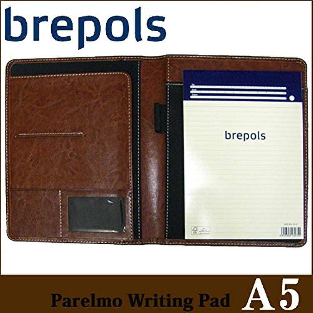 BREPOLS ブレポルス パレルモ ライティングパッド A5 ブラウン レポートパッドホルダー レポートカバー