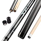 Collapsar XP01 Jump Break Cue Pool Sticks 58 Inch 3-Piece Maple Shaft Quick Release Joint 19.5 20 OZ (White, 20OZ)