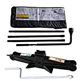 DICN Spare Tire Changing Tools Lug Wrench Extension Irons for Chevrolet Silverado 1500 2500 3500 (2000-2014) + Scissor Jack with Speed Handle 2 Ton Capacity US Ship