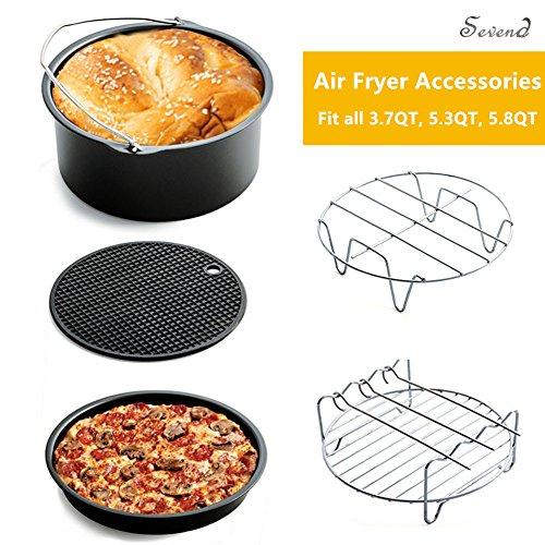 SevenD Universal 5 piece Air fritteuse Zubehör , passend für alle 3,7 Qt-5,3 Qt-5,8 Qt