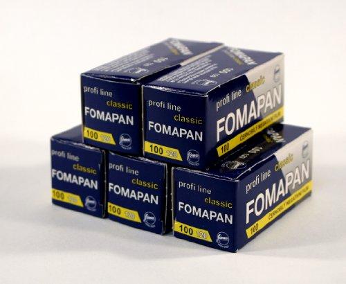 Fomapan Filmrollen (100 asa), Schwarz / Weiß, 120 mm, 5 Pack