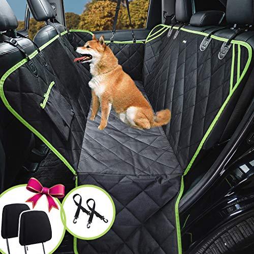 Karlschmit Hunde-Autositzbezüge, Hunde-Hängematte mit Netzfenster, strapazierfähige Autositzbezüge für Hunde, 100% wasserdicht, Anti-Rutsch-600D-Oxford-Gewebe, Hunde-Sitzbezug für Rücksitz