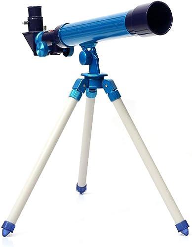 ATR Enfants 30Mm Télescope Science Et éducation Jouet étudiants Optique Cadeau D'Expérience,Bleu,télescope