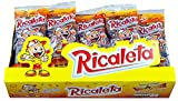 Ricaletas Paletas - Ricaleta Mexican Candy Box Tamarindo Flavored Dulces Mexicanos (25 Count ) Mini Paletas Ricaletas Tamarind Lollipops Bulk + Cute Lollipop Keeper Bag Bundle