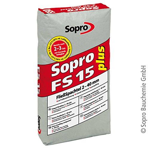 Sopro FS 15® plus 550 - selbstnivellierende, pumpfähige, schnell erhärtende Universalspachtelmasse | 25 kg/Sack