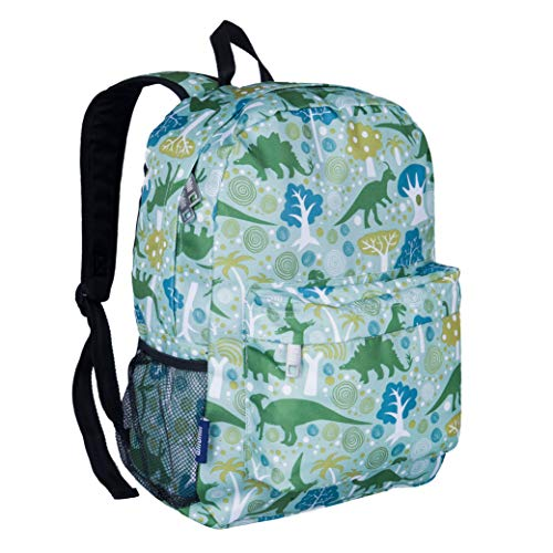 Wildkin 16 Inch Kids Backpack for Boys & Girls, 600-Denier Polyester Backpack for Kids, Features Padded Back & Adjustable Strap, Perfect for School & Travel Backpacks, BPA-Free (Dinomite Dinosaurs)