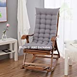 AMZ Exclusive & Premium Quality Long Quilted Chair Pad for Rocking Chairs/Chair Pad/Chair Cushion/Cushion for Rocking Chairs (48 x 16 Inch,Set of 1) (48 x 16 Inch, Steel Grey)