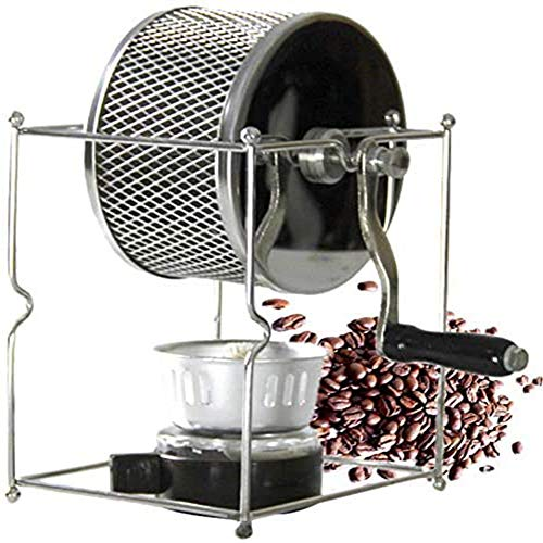 ZLFCRYP Manuale Macchina di Tostatura dei Chicchi di caffè, Acciaio Inossidabile Rullo Tostatori di caffè