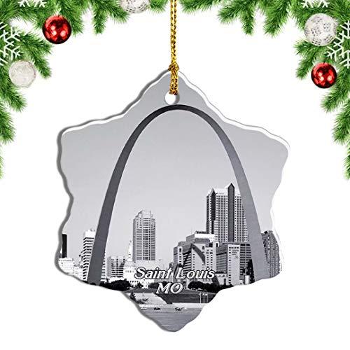 Weekino USA America Saint Louis Gateway Arch Christmas Ornament Travel Souvenir Tree Hanging Pendant