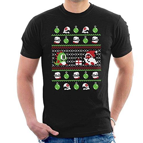 Bubble Bauble Bobble Christmas Knit Pattern Men's T-Shirt
