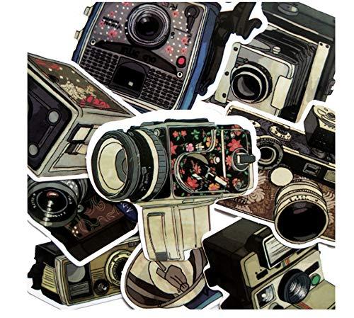 18 Stuks Waterdichte Vintage Camera Stickers Skateboard Koffer Gitaar Bagage Graffiti Stickers Kinderen Klassiek Speelgoed