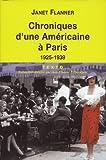 Chroniques d'une Américaine à Paris 1925-1939 (TEXTO)