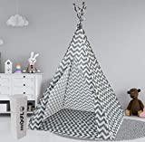 MAXFLO Teepee Tent for Kids | Tepee Play Tent Indoor and Outdoor Portable | Play Tent for Boy and Girls | Childrens Pop Up Tee Pee Playhouse Fort | Carry Case Included
