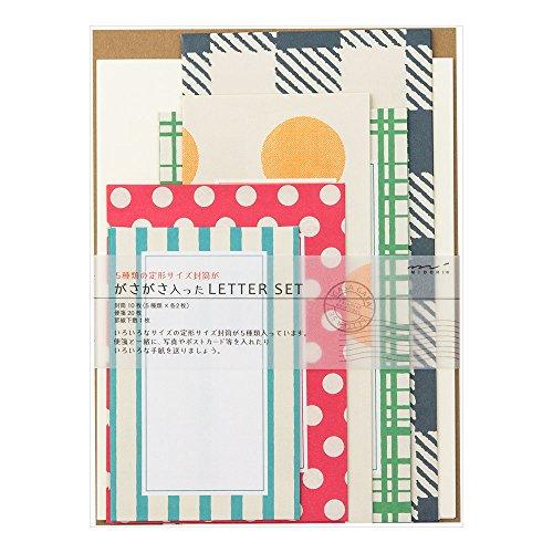 デザインフィル レターセット420 ガサガサ カラフル 86420006 1組(2セット)