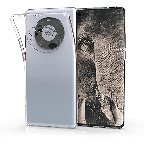 kwmobile Hülle kompatibel mit Huawei Mate 40 Pro - Silikon Handyhülle transparent - Handy Hülle in Transparent