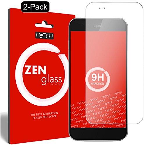 ZenGlass [2 Stück Flexible Glas-Folie kompatibel mit Gigaset ME Pro Panzerfolie I Bildschirm-Schutzfolie 9H I (Kleiner Als Das Gewölbte Bildschirm)