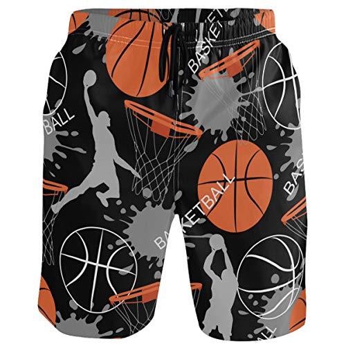 visesunny Trajes de baño de secado rápido para hombre, pantalones cortos de playa con forro de malla - Multi color - Large