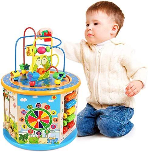 Bck 8-IN-1 Actividad de Juego Multi Cube 1 AÑOS DE NIÑOS Y NIÑAS Centro DE NIÑOS, Juguetes, NIÑOS NIÑOS Y NIÑOS Edad 1,2,340 Actividad DE Madera DE BABÉ TOYOS DE Cubo Toys LEADROS JUGADOS EDUCATIVOS