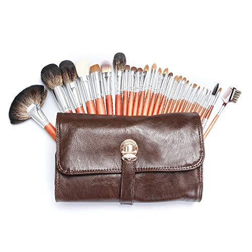 GBY Lot de 28 pinceaux de maquillage synthétiques de qualité supérieure pour fond de teint, poudre kabuki correcteurs, ombres à paupières