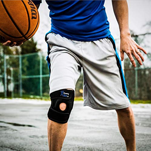 Winzone Knee Brace by ComfyMed Premium Adjustable Compression Support Sleeve CM-KB19 for Sport or Pain Relief