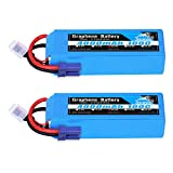 YOWOO 2 Packs 4S 14.8V 4000mAh 100C Graphene Battery with EC5 Plug RC Battery for RC Evader BX Car Truggy Truck Multirotors Hexacopter Octacopters Airplane UAV Drone FPV Hobby