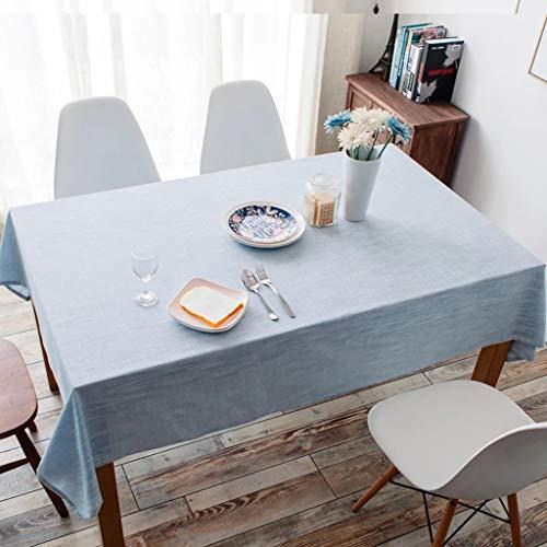 JXXDQ Couverture de table en lin de nappe rectangulaire pour le textile de table, bleu clair (Size : 130 * 250cm)