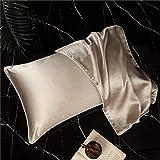 FCXBQ Almohadas de Cama, Cojines de Cuello Resistentes y Ajustables, Almohadas de Repuesto para la Familia y el Hotel, para Espalda y costados, 2 Paquetes (con Funda de Almohada), Dorado