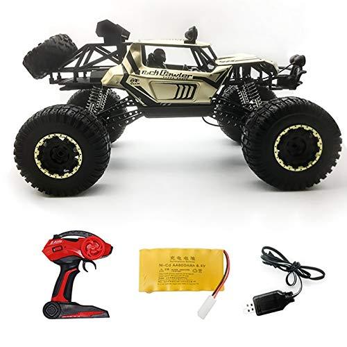 LZH FILTER RC Monstertruck 1:8 Offroad Elektro Auto - Dual Motor Bis Zu 12 Km/H - 4WD - Allradantrieb, Wasserdicht, 2.4G Fernbedienung, All Terrain Spielzeug für Kinder und Erwachsene