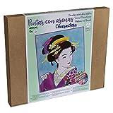 Arenart | 1 Lámina Geisha 38x46 cm | para Pintar con Arenas de Colores | Manualidades para Adultos...