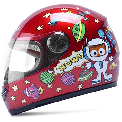WXL Casco de niños para moto eléctrica casco de cara completa niño...
