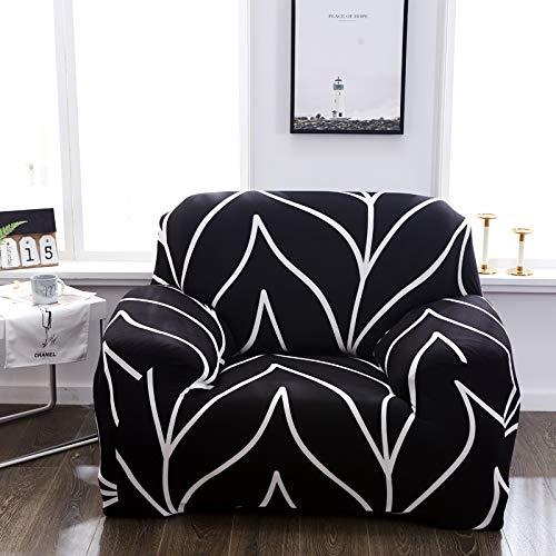 Funda de sofá, funda de sofá individual, funda elástica de elastano para sofá, funda elástica para sofá de salón, estampado floral para sofás (color: ágata roja, especificación: 3 plazas (190 230 cm)