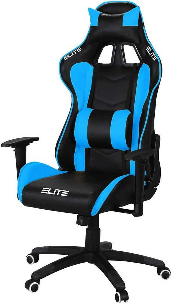 ELITE Racing Gaming Stuhl Destiny MG-200 – Bürostuhl – Kunstleder – Ergonomisch – Racer – Drehstuhl – Chair – Chefsessel – Schreibtischstuhl…