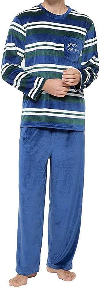 Lyilepu Matching FamilyLong Sleeve Sleepwear with Long Pants Pajamas Sets Men and Women Striped Pajamas Super Soft