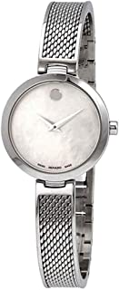 Movado Amika Mother of Pearl Dial Bangle Ladies Watch 0607361