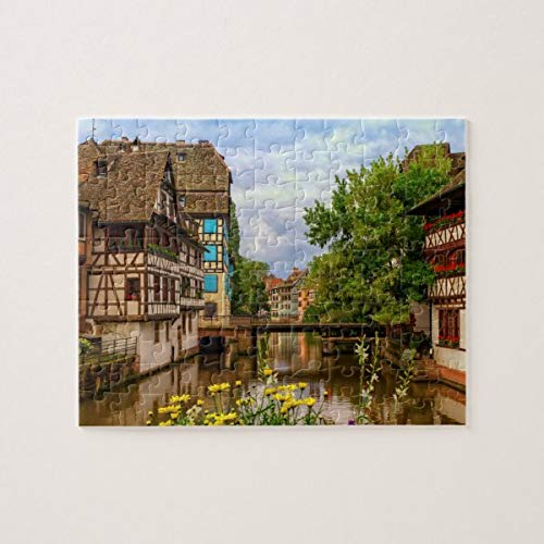 CICIDI Half-timbered Houses in Petite France, Strasbourg, Jigsaw Puzzle 1000 Pieces for Adult Entertainment DIY Toys , Graet Gift Home Decor