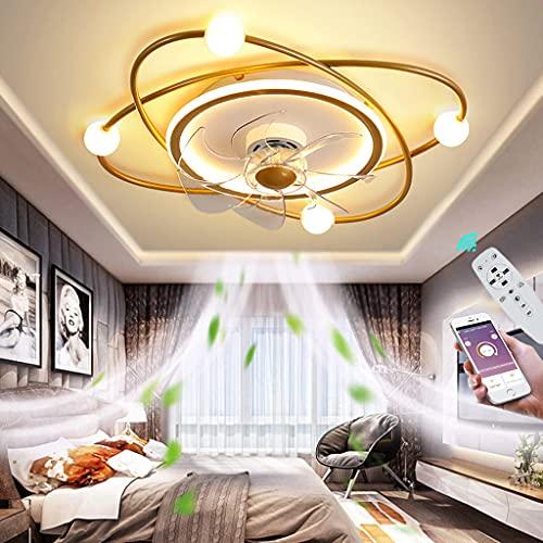 Silencioso Ventilador de Techo con Luz y Control Remoto Regulable Lámpara de Techo LED Moderna Ultra Silencioso Fan Iluminación de Dormitorio 3 Velocidad del Viento Ajustable Ø55CM