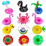 Inflatable Drink Holders 12 Packs Swim Drink Floats Coasters...