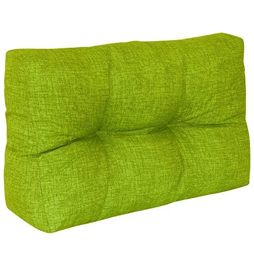 DILUMA   Palettenkissen Comfort Rückenlehne 60x40 cm Apfelgrün   Für Indoor/Outdoor, Wasserabweisend
