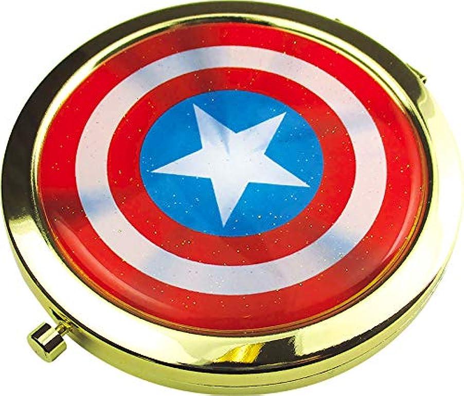 名前を作る泥棒策定するティーズファクトリー 鏡 マーベル キャプテン?アメリカ Wコンパクトミラー MV-5537052CA