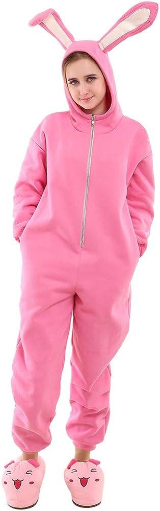 Cosplay.fm Adults Onesie Pajamas Set Pink Rabbit Bunny Choice online shopping Halloween